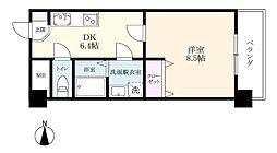 タケダビル2[504号室]の間取り