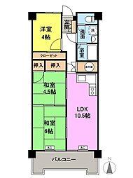 ホーユウパレス高崎南[3階]の間取り
