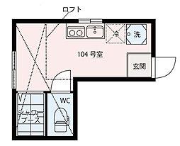 東京都荒川区東尾久8丁目の賃貸アパートの間取り