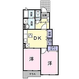 埼玉県春日部市緑町6丁目の賃貸アパートの間取り