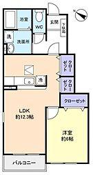 シャルムメゾンII[1階]の間取り
