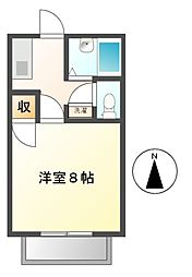 愛知県北名古屋市徳重広畑の賃貸アパートの間取り