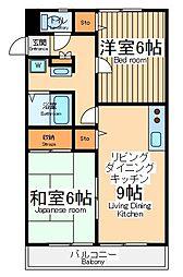 東京都調布市深大寺北町1丁目の賃貸アパートの間取り