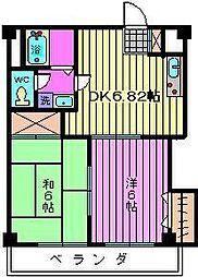 インフォートマンション[310号室]の間取り