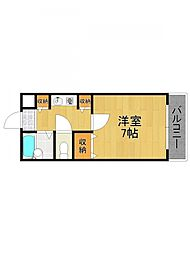 兵庫県西宮市中前田町の賃貸マンションの間取り