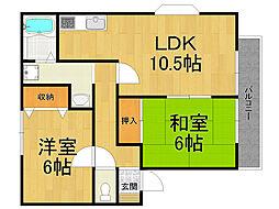 ケーズハウス[2階]の間取り