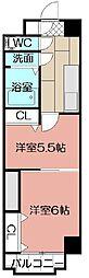 中津口センタービル[1106号室]の間取り