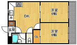 フローレンス西宮2[3階]の間取り