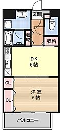 コンフォールドミールK[310号室号室]の間取り