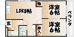 ダイキュリー苅田[5階]の間取り