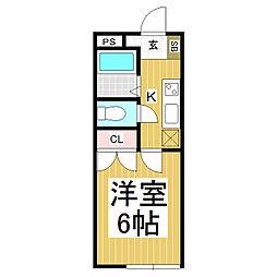 サンライズ西長野[2階]の間取り