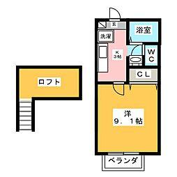 クレールエイワIII[1階]の間取り