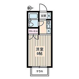 富士ハウス[0105号室]の間取り