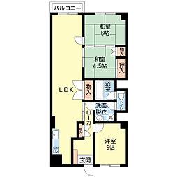 新潟県新潟市中央区緑町の賃貸マンションの間取り