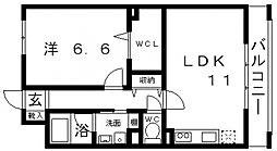 メルヴェーユ藤井寺[102号室号室]の間取り