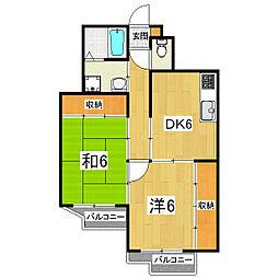 ミニヨンハウス勧修[3階]の間取り
