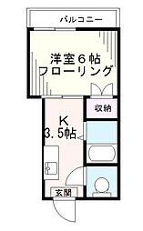 東京都豊島区池袋本町1丁目の賃貸マンションの間取り