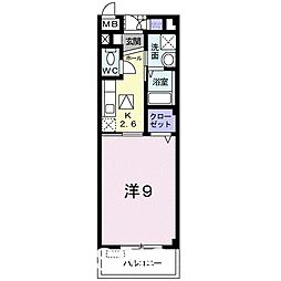 大阪府堺市北区東浅香山町1丁の賃貸マンションの間取り