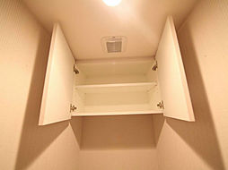 プレサンス丸の内レジデンスIIIのトイレ 棚付