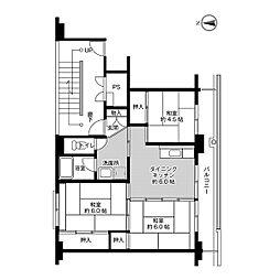 ビレッジハウス船木II1号棟[205号室]の間取り
