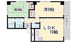 羽坂マンション[2階]の間取り