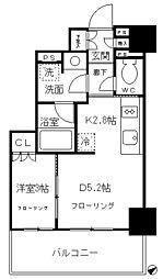 都営浅草線 高輪台駅 徒歩9分の賃貸マンション 4階1DKの間取り