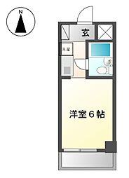コンフォール名城[4階]の間取り