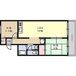 モンテヴェルデ[2階]の間取り