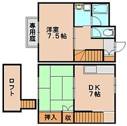 福岡県大野城市白木原4丁目の賃貸アパートの間取り