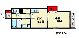 レジデンス御笠I[5階]の間取り
