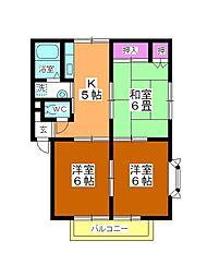 サンハウス高沢[2階]の間取り