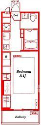リブリアクシオン - LIVLI -[207号室]の間取り