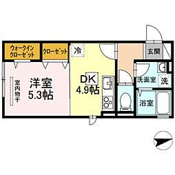 D-room Luxury 1st[1階]の間取り