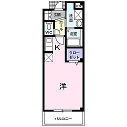 埼玉県越谷市宮本町2丁目の賃貸マンションの間取り