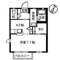 シャーメゾンI・T[A202号室]の間取り