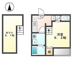 HUMMING LIFE 中村区役所[2階]の間取り