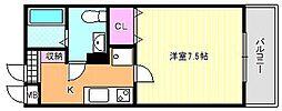 T&M北田辺[3階]の間取り