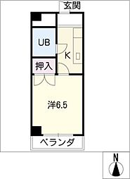 U・TOPIA21[3階]の間取り