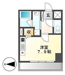 レジディア高岳[2階]の間取り