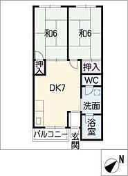 柱アパート[2階]の間取り