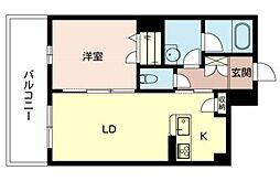 兵庫県姫路市西新町の賃貸マンションの間取り