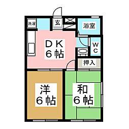 エクセレント南吉成 弐番館[1階]の間取り