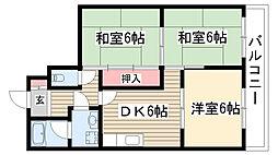 藤ヶ丘第2ホフマンション[502号室]の間取り