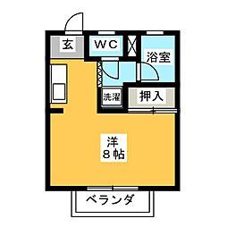 メローハウス[1階]の間取り