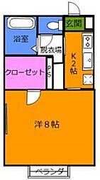 千葉県市川市大和田4丁目の賃貸アパートの間取り