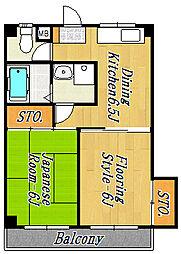 第5サンキビル[4階]の間取り