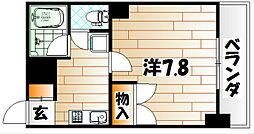 ヨークス本城[403号室]の間取り