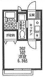 パーク・メゾン[102号室号室]の間取り