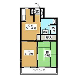 ハイツ柊[2階]の間取り