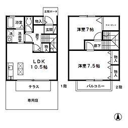 [テラスハウス] 東京都府中市本宿町4丁目 の賃貸【/】の間取り